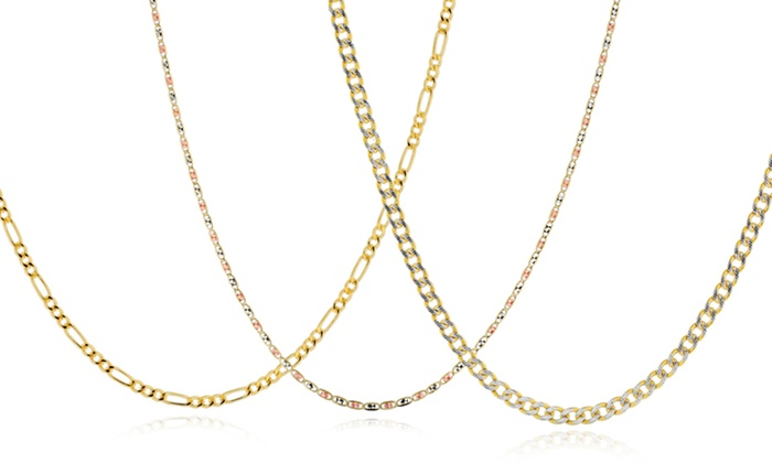 10-Karat Solid-Gold Chains: 10-Karat Solid-Gold Necklace Chain. Multiple Styles Available. Free Shipping.