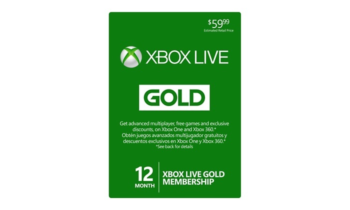 Up To 3 Off On 12 Month Xbox Live Gold Card Groupon Goods