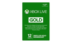 12-Month Xbox Live Gold Membership at 12-Month Xbox Live Gold Membership, plus 6.0% Cash Back from Ebates.