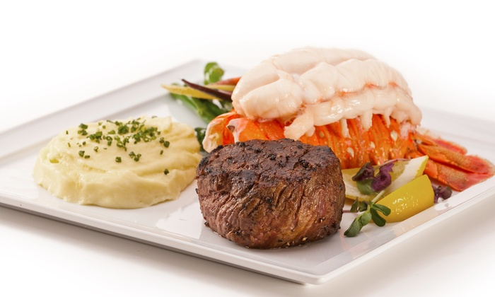 McCall's Heartland Grill - Stratosphere Hotel & Casino - The Strip: $75 Surf 'n' Turf Filet & Lobster Meal for Two at McCall's Heartland Grill Plus Radius Package ($132 Value)