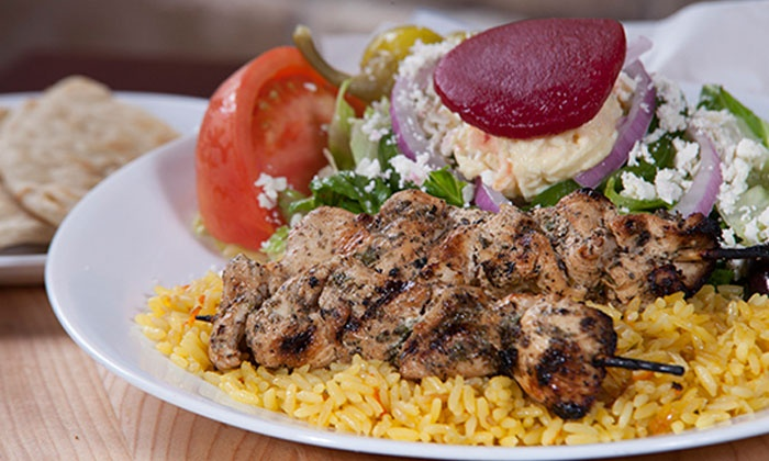 Little Greek Fresh Grill - Little Greek Fresh Grill: Greek Food for Two or Four (44% Off). Two Options Available.