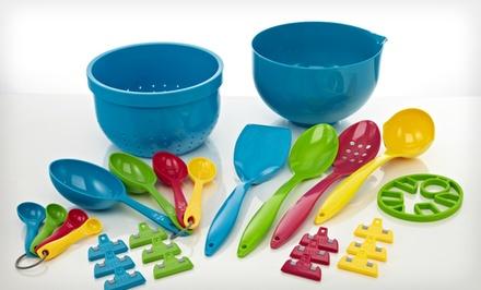 28 piece kitchen set groupon goods for Kitchen set groupon