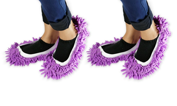 Microfiber Chenille Mop Slippers 1 Or 2 Pack Groupon