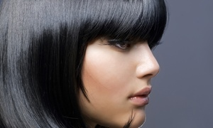 Moreland's Hair Cafe, Salon & Spa: Women's Haircut and Style with Optional All-Over Color at Moreland's Hair Cafe, Salon & Spa (Up to 59% Off)