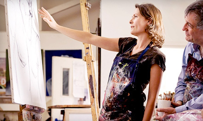 The Crazy Canvas - Memorial: BYOB Painting Class for One, Two, or Four at The Crazy Canvas (Up to 56% Off)