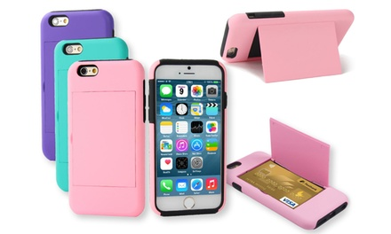 3D Luxe Dual-Layer Credit-Card Case with Stand for iPhone 6 or 6 Plus from $8.99–$9.99