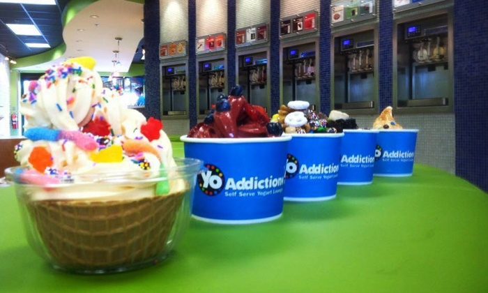 Yo Addiction - Springfield Township: $10 for Five Groupons, Each Good for $4 Worth of Frozen Yogurt at Yo Addiction ($20 Total Value)