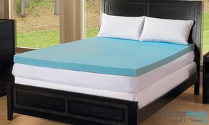 "3"" Gel Memory Foam Mattress Topper From Beautyrest. Multiple Sizes Available From $79.99–$149.99."