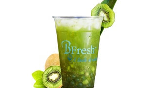BFresh Snacks & Drinks: Three or Six Groupons, Each Good for One Tea Drink or Smoothie at BFresh Snacks & Drinks (Up to 38% Off)