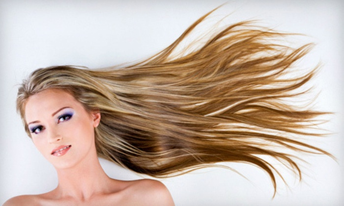 J.S. Salon - Elk Grove Village: Haircut, Style, Blow-Dry, and Conditioning with Optional Partial Highlights or Ombre Color at J.S. Salon (Up to 62% Off)
