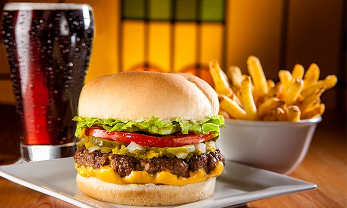 Fatburger - Multiple Locations: C$8 for One Original Fatburger with Cheddar Cheese, Skin-on Fries and a Drink at Fatburger (C$13.17 Value)
