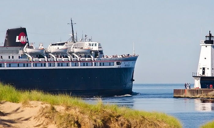 "SS Badger Lake Michigan Carferry - Multiple Locations: $189 for Roundtrip Lake Michigan Cruise for Two from ""S.S. Badger"" Lake Michigan Carferry ($380 Value)"