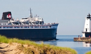 "$189 For Roundtrip Lake Michigan Cruise For Two From ""s.s. Badger"" Lake Michigan Carferry ($380 Value)"
