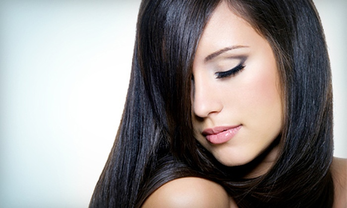 Salon Eco Chic - East Village: Haircut and Conditioning Treatment with Optional Highlights or Body Wave at Salon Eco Chic (Up to 79% Off)