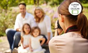 Prime Stúdio Fotográfico: Prime Stúdio Fotográfico: ensaio externo com 50 ou 100 fotos em DVD, 5 ou 10 impressas 10x15 cm e 1 pôster 20x30 cm