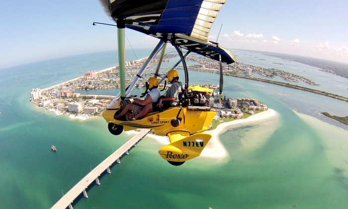 Sky Surfing Aviation - Clearwater: $149 for a Hands-On Scenic Intro Flight from Sky Surfing Aviation ($260 Value)
