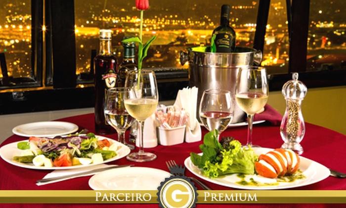 Terraço Sunset - São Paulo: @@Terraço Sunset – Santana: jantar romântico para 2 com entrada e sobremesa (com opção de vinho), a partir de R$ 69
