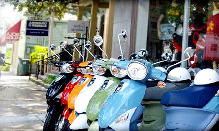 Big Easy Scooters - East Riverside: $39 for a One-Day Scooter Rental with Helmet and Insurance from Big Easy Scooters ($90 Value)