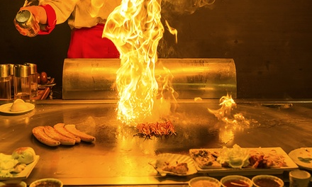 Sushi and Teppanyaki Cuisine at Azuma Sushi & Teppan (38% Off). Two Options Available.