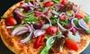 Pizza oder Pasta mit Salat