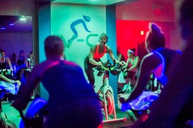 Vélo-City: Three Indoor Cycling Classes or One Month of Unlimited Classes at Vélo-City (Up to 51% Off)