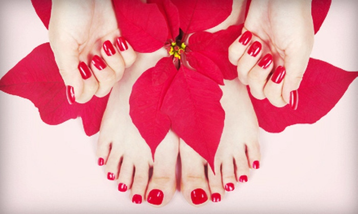 Corazon's Nail Salon - Willowbrook: $29 for a No-Chip Manicure and a Regular Pedicure at Corazon's Nail Salon ($65 Value)