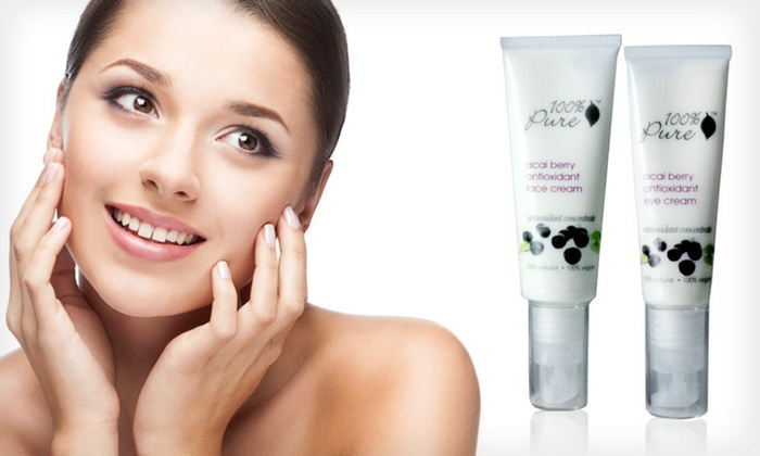 100% Pure Organic Acai-Berry Anti-Aging Eye and Face Cream: $25 for 100% Pure Organic Acai Berry Anti-Aging Eye and Face Cream Two-Piece Gift Set ($57 List Price). Free Shipping.