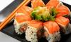 Sabores - Sabores: Menú para dos personas con bandeja de sushi, entrante y bebida por 19,95 € y con postre y botella de vino por 24,95 €