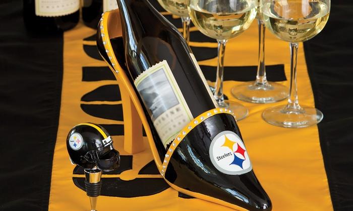 NFL Shoe Wine Bottle Holder | Groupon
