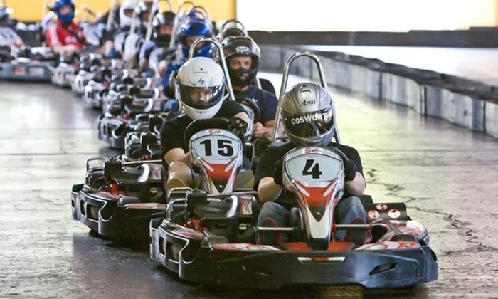 Sykart Indoor Racing  - Tukwila: Two Indoor Go-Kart Races with Helmet Rental at SyKart Indoor Racing Center ($38 Value)