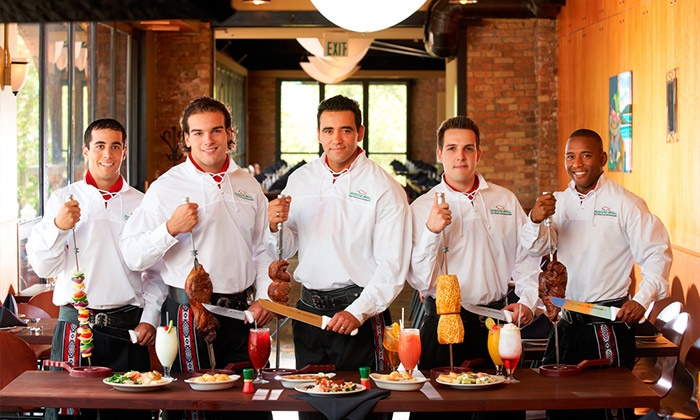 Rodizio Grill - Southeast Pensacola: Unlimited Brazilian Steakhouse Dinner with Bottles of Select Wine for Two or Four at Rodizio Grill (40% Off)