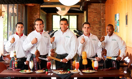 Unlimited Brazilian Steakhouse Dinner with Bottles of Select Wine for Two or Four at Rodizio Grill (40% Off)