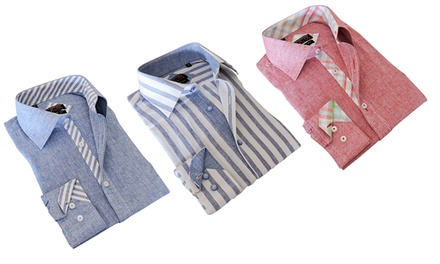 T.R. Premium Men's Slim Fit 100% Linen Shirts