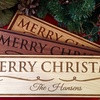 American Laser Crafts Personalized Wood Holiday Sign