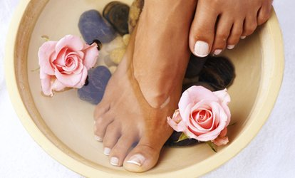Intensive Pedicure With Shellac Polish at Beauty on the Spot (51% Off)