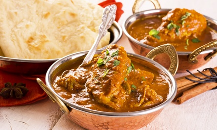 Indian Food for Takeout or Eat-In Dinner for Two at Raj Darbar (Up to 45% Off)