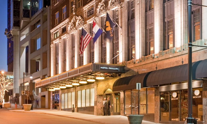 Hotel Phillips - Kansas City, MO: One- or Two-Night Stay with Food-and-Beverage Credit at Hotel Phillips in Kansas City