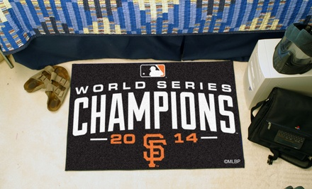 San Francisco Giants 2014 World Series Champions Baseball Mat