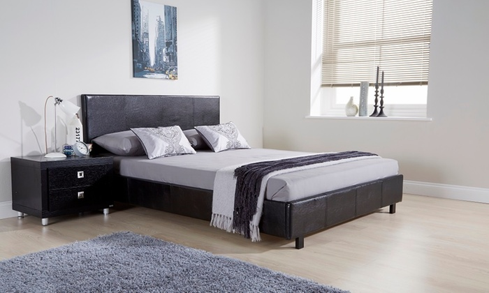 Groupon Goods Global Gmbh Bed Frame From 64 99 With Mattress