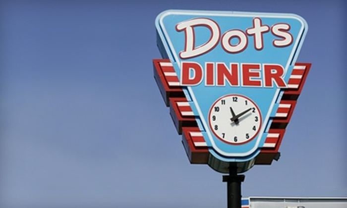 Dots Diner - Multiple Locations: $6 for $12 Worth of Hearty Comfort Cuisine at Dots Diner