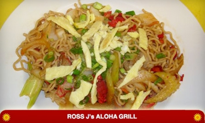 Ross J's Aloha Grill - Green Valley North: $7 for $15 Worth of Asian and Hawaiian Cuisine at Ross J's Aloha Grill in Henderson
