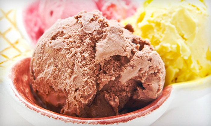 By The Scoop Ice Cream Parlor - Middle River: 10 Scoops or Custom Ice-Cream Cake at By the Scoop Ice Cream Parlor in Middle River (Up to 55% Off)
