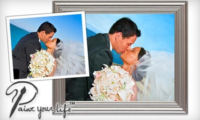 "Paint Your Life: $99 for 16""x20"" Custom Oil Photo Portrait from Paint Your Life ($199 Value)"