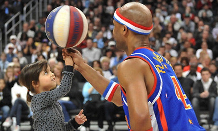 Harlem Globetrotters - Downtown Phoenix,Central City,Cooper Square: Harlem Globetrotters Game at K-Rock Centre on Wednesday, April 4, at 7 p.m. (Up to 51% Off). Three Options Available.