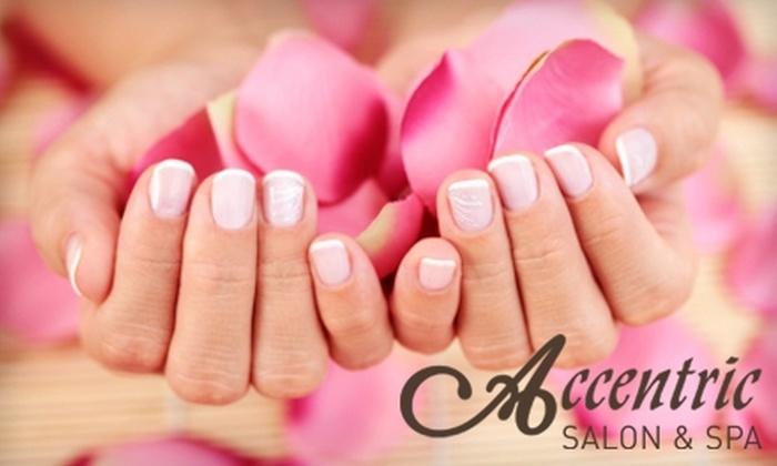 Accentric Salon & Spa - Multiple Locations: $40 for a Classic Mani-Pedi at Accentric Salon & Spa ($80 Value)