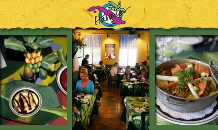 Havana Café - Multiple Locations: $15 for $35 Worth of Latin Flavors at Havana Café