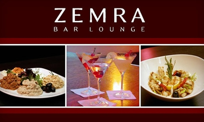 Zemra Bar Lounge - Humewood - Cedarvale: $15 for $30 Worth of Mediterranean Cuisine and Drinks at Zemra Bar Lounge