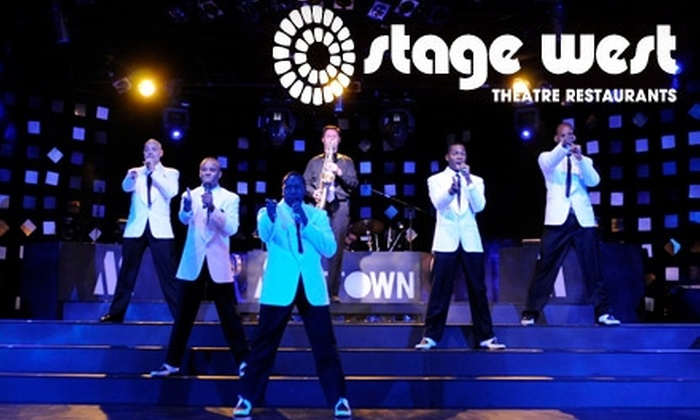 "Stage West Theatre Restaurant - Alyth - Bonnybrook - Manchester: $48 Dinner-Theatre Admission to ""Motown Gold: A Musical Revue"" Stage West Theatre Restaurant ($97 Value). Four Nights Available"