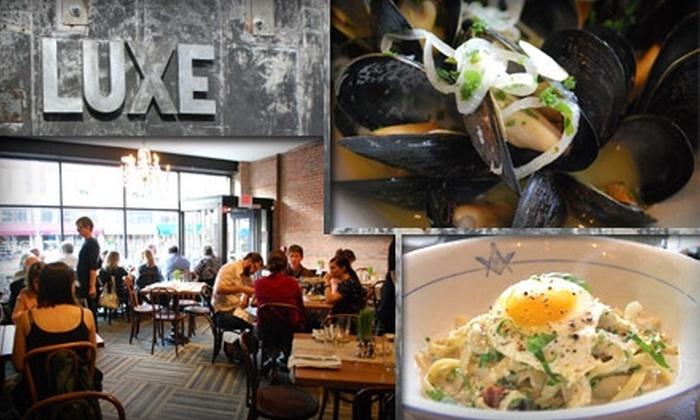 Luxe - Detroit - Shoreway: $15 for $30 Worth of American Cuisine and Drinks at Luxe