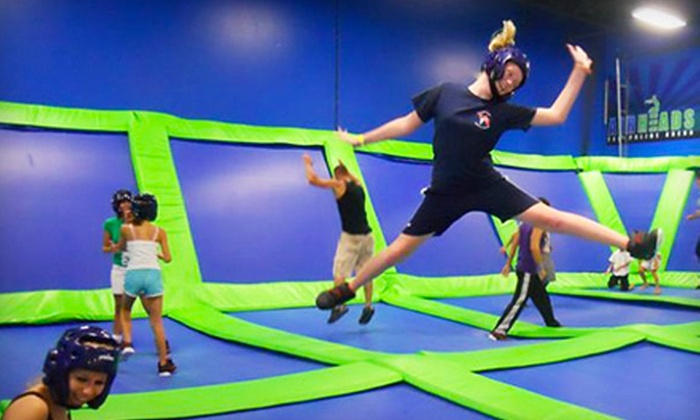 AirHeads Trampoline Arena - Multiple Locations: $24 for Four One-Hour Trampoline-Jump Passes at AirHeads Trampoline Arena in St. Petersburg/Clearwater or Tampa (Up to $48 Value)